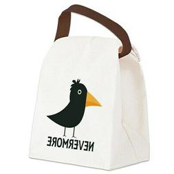 CafePress Nevermore Raven Canvas Lunch Bag with Strap Handle