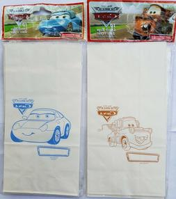 NEW 10 Pixar Cars Kids COLOR YOUR OWN LUNCH BAGS Favors Part