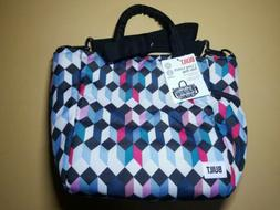 New BUILT 600D I Love Lunch Insulated Lunch Bag Tote Geometr
