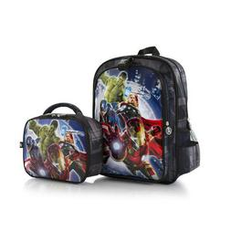 New Marvel Avengers 15 Inch Backpack with Lunch Bag for Kids