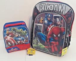 NEW Marvel Avengers Kids Backpack & Lunch Bag School Christm