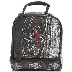 NEW Boys Marvel Spider-man Dual Compartment Lunch Box Bag Dr