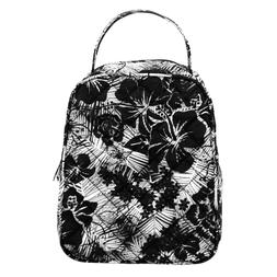 NEW - Danielle Morgan Quilted Lunch Bag in Black and White F