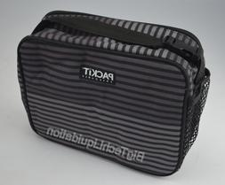 New PACKIT Freezable Classic Lunch Box Gray Stripe #Ipg67