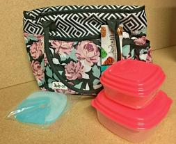 NEW W/Tags Fit+Fresh Insulated Lunch Bag Soft Cooler w/Ice P