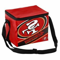 NFL SF San Francisco 49ers Big Logo Stripe 6 pack Cooler Lun