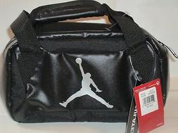 NIKE JORDAN LUNCH BAG  INSULATED 9A1848-023 BLACK/SILVER COL
