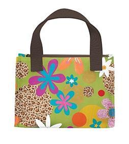 Joann Marrie Designs NLB1GLF Lunch Bag - Green Leopard Flora