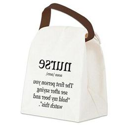 CafePress Nurse Definition Canvas Lunch Bag with Strap Handl