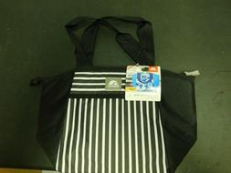NWT IGLOO black and white cooler bag/tote/lunch bag fits 8 c