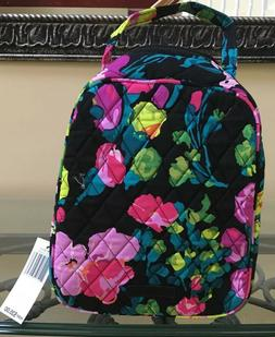 NWT Vera Bradley HILO MEADOW Quilt Black Pink Lunch Bunch In