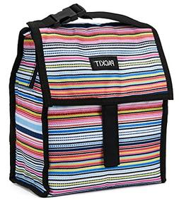 Open Box PackIt Freezable Deluxe Lunch Bag Shoulder Strap Bl