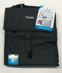 PACKIT FREEZABLE LUNCH BAG - VELCRO CLOSURE BLACK - NWT, NEW