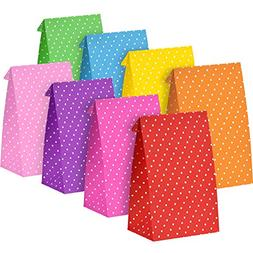 Tatuo 24 Pieces Party Bags Gift Dot Paper Bags Grocery Bags
