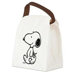 peanuts snoopy canvas lunch bag with strap
