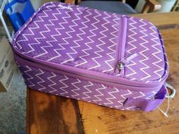 Embark Personal Lunch Bag Purple Zipper Bag Easy Clean Hard