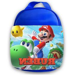 Personalised Kids Lunch Bag Any Name Mario Childrens Boys Sc