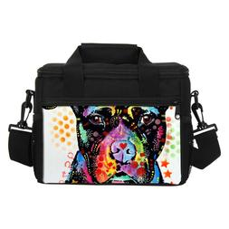 Pitbull Art Dog Insulated Cooler Lunch Bag Small Picnic Bag