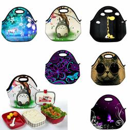 Portable Insulated Lunch Bag Children School Office Thermal