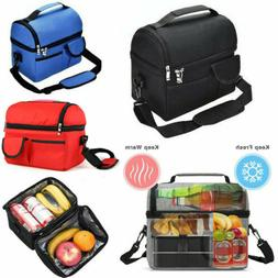 8L Insulated Medium Lunch Bag With Shoulder Strap Compartmen