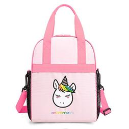 mommore Portable Unicorn Lunch Bag for Kids Insulated Lunch