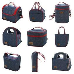 Portable Lunch Box Unisex Insulated Lunch Bag Small&Large Fo