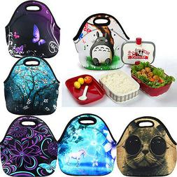 Portable Neoprene Thermal Insulated Lunch Bag Tote Box Coole