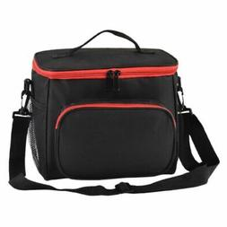 Women Men Thermal Insulated Lunch Bag Portable Travel Picnic