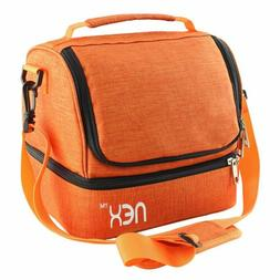 NEX Lunch Bag Double Cooler Carry Bag Travel Office Lunch To