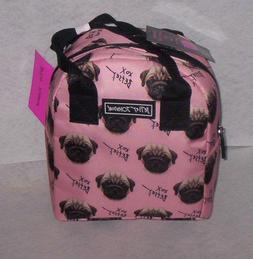 BETSEY JOHNSON PUGS Insulated LUNCH TOTE  with Food Containe