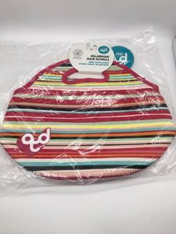 BYO BUILT NY RAMBLER Neoprene Lunch Bag Multi-Color Stripe N