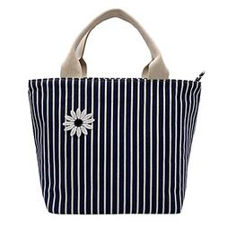 Mziart Reusable Insulated Lunch Bag, Cute Lunch Tote Handbag