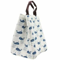 Mziart Reusable Insulated Lunch Bag Tote Soft Cooler Carry B