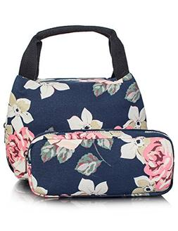 TOPERIN Reusable Insulated Lunch Bag for Children, Cute Lunc
