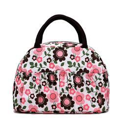 Reusable Fashion Lunch Bag for Women Cute Zipper Lunch Tote