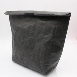 Reusable Practical Lunch Bag Paper Pouch Solid Large Capacit