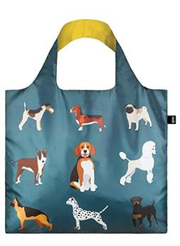 LOQI Reusable Tote Bag, Dog's Woof