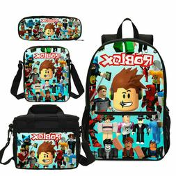 Roblox Schoolbag Kid Boys Backpack Insulated  Lunch Bag Pen