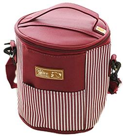 Blancho Bedding Round Durable Waterproof Lunch Bag Lunch Hol