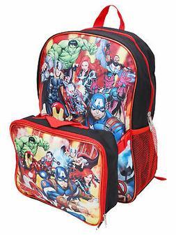 "Marvels Avengers 16"" Backpack School Book Bag With Detachabl"