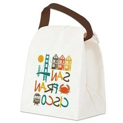 CafePress San Francisco Canvas Lunch Bag with Strap Handle