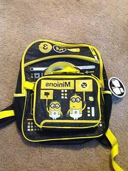 School Backpack With Detachable Lunch Bag Minions Despicable