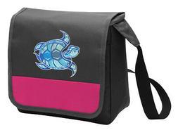 Sea Turtle Lunch Bag CUTE Cooler Tote Bags w/ SHOULDER STRAP