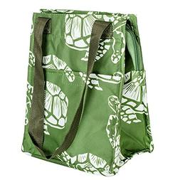 Sea Turtles Green 11 Inch Insulated Lunch Bag with Front Poc
