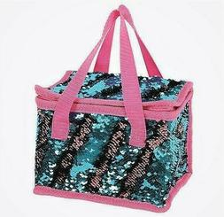 Sequin Mermaid Lunch Bag Insulated Cool Picnic School Bags L