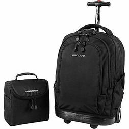 J World New York Setbeamer Rolling Backpack with Lunch Bag B