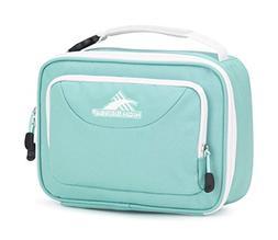 High Sierra Single Compartment Lunch Bag, Aquamarine/White