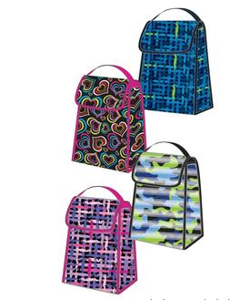 Small 12 inch Foldable Printed Insulated Lunch Bag with Hand