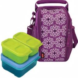 Rubbermaid Small Lunch Bag Blox Set    Blue Ice Pack  Bright