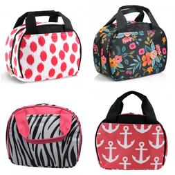 Small Nylon Insulated Lunch Tote Bag Thermal Cooler Lunch Bo